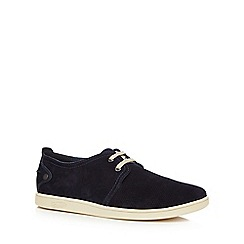 Original Penguin - Navy suede perforated shoes
