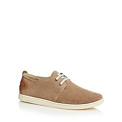 Original Penguin - Light taupe suede perforated shoes