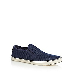 Original Penguin - Navy textured slip-on shoes