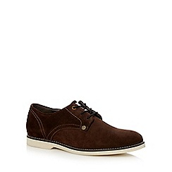 Original Penguin - Dark brown 'Lazor' Derby shoes