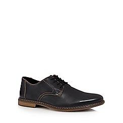 Rieker - Black leather lace up Derby shoes