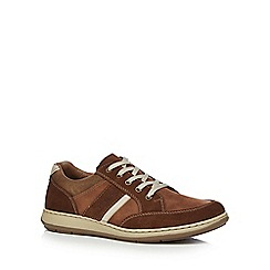 Rieker - Tan suede lace up trainers