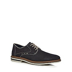 Rieker - Navy suede Derby shoes