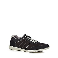 Rieker - Navy suede lace up trainers