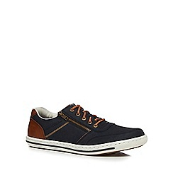 Rieker - Navy lace up trainers