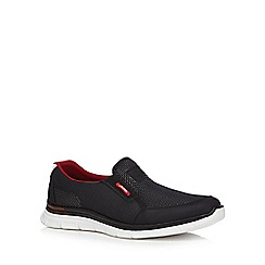 Rieker - Black mesh slip-on trainers