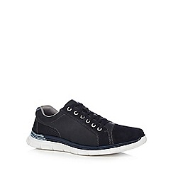 Rieker - Navy leather 'Casula' lace up shoes