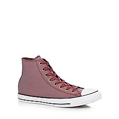 Converse - Wine 'Chuck Taylor' high-top trainers