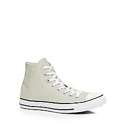 Converse - Light grey 'Chuck Taylor' trainers