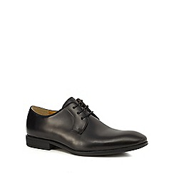Steptronic - Black leather 'Faro' Derby shoes