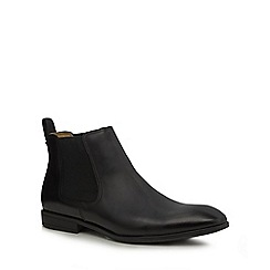 Steptronic - Black leather 'Ford' Chelsea boots