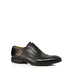 Steptronic - Black leather 'Falcon' Oxford shoes