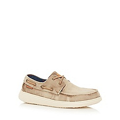 Skechers - Light brown 'Status Melec Apron' lace up shoes