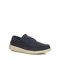 Skechers - Navy 'Status Melec Apron' lace up shoes