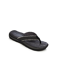 Skechers - Black 'Supreme Bosnia' flip flops