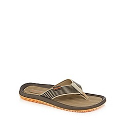 Rider - Brown striped flip flops
