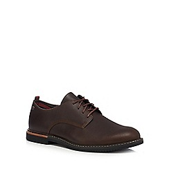 Timberland - Brown leather 'Brook Park' lace up Oxford shoes