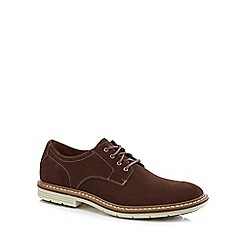 Timberland - Dark brown 'Naples' suede derby shoes
