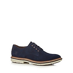 Timberland - Navy suede 'Naples' Derby shoes