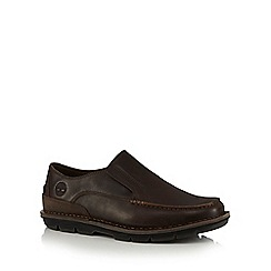Timberland - Brown 'Coltin' leather loafers