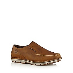 Timberland - Beige 'Coltin' leather loafers