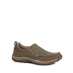 Skechers - Khaki 'Expected Tomen' slip-on shoes