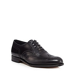Loake - Black leather 'Inverness' Goodyear welted brogues