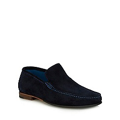 Loake - Navy suede 'Nicholson' loafers