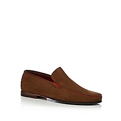 Loake - Tan suede 'Nicholson' moccasin shoes