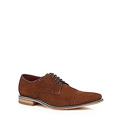 Loake - Tan suede 'Foley' brogues