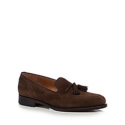 Loake - Tan suede 'Lincoln' Goodyear welted sole loafers