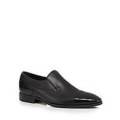 Loake - Black leather 'Sherlock' slip-on shoes