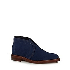 Loake - Navy suede 'Lawrence' chukka boots