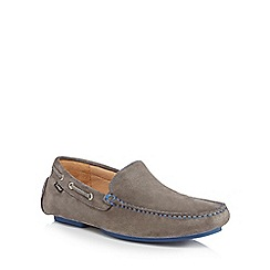 Loake - Grey suede 'Donnington' moccasins