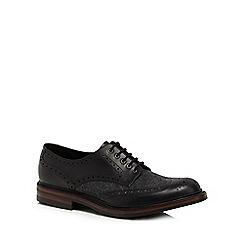 Loake - Black leather 'Woburn' brogues