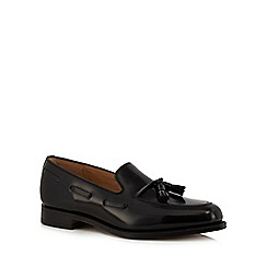 Loake - Black leather 'Lincoln' Goodyear welted sole tassel loafers