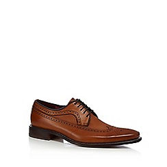 Loake - Tan leather 'Callaghan' Goodyear welted sole brogues