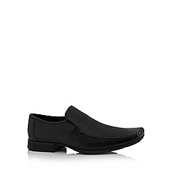 Clarks - Black leather 'Ferro' loafers