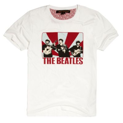 White The Beatles t-shirt