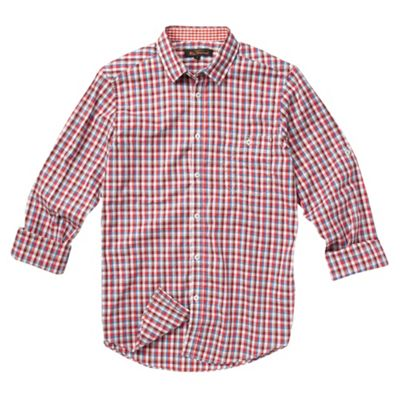 Ben Sherman Red checked long sleeved shirt