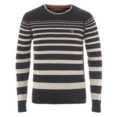 Ben Sherman Navy stripe jumper