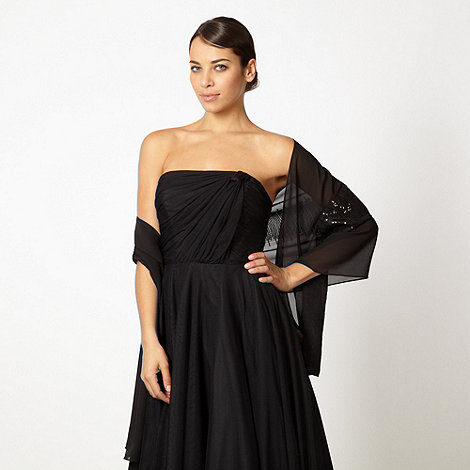 Debut - Black sequinned stole