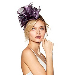 Debut - Purple organza flower fascinator headband
