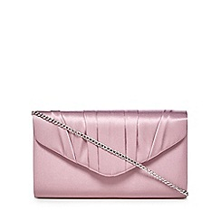 Debut - Pink pleated envelope clutch bag