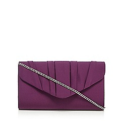 Debut - Purple pleated envelope clutch bag