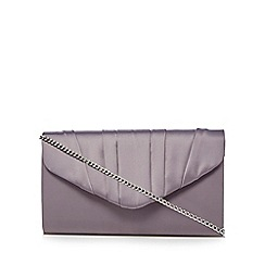 Debut - Dark grey pleated envelope clutch bag