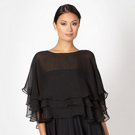 Debut - Black jewelled poncho