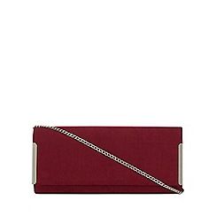 Debut - Dark red bar detail clutch bag