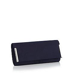 Debut - Navy bar detail clutch bag