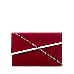 Debut - Dark pink velvet asymmetric clutch bag
